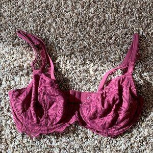 EUC Pink Victoria's Secret Soft Lace Bra